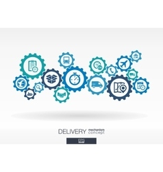 Delivery mechanism concept vector