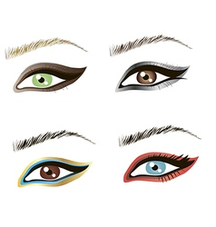 Eyes design art vector image vector image