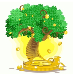 gold money tree vector image vector image