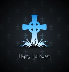 grave cross vector image