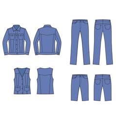 Jeans clothes vector image vector image