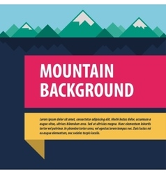 Mountains template advertising layout vector
