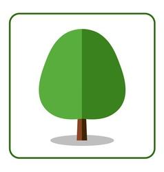 Oak linden tree icon vector image vector image