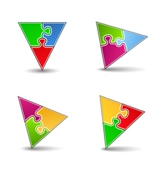 Puzzle Triangles vector image