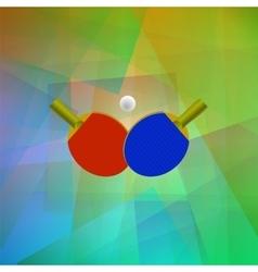 Realistic Tennis Icon vector image vector image