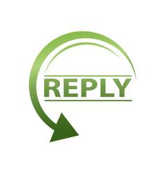 Reply icon vector