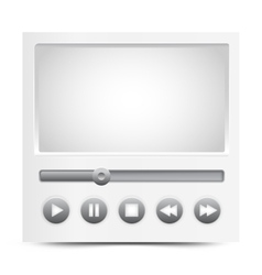 Simple video player interface vector