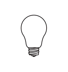 sketch silhouette light bulb icon vector image vector image