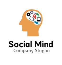 Social Mind Design vector image