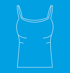 Tank top icon outline style vector