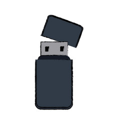 Usb information backup device technology vector