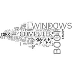 what to do when windows won t boot text word vector image vector image