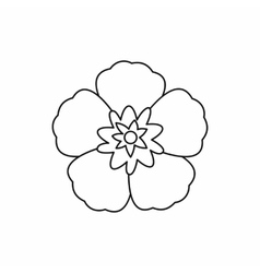 Rose of sharon korean flower icon outline style vector