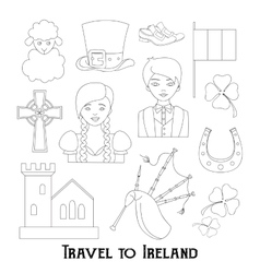 Travel to ireland vector