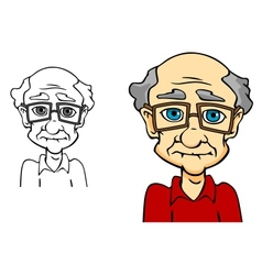 Senior man vector image