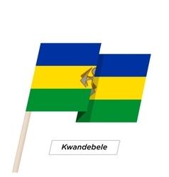 Kwandebele ribbon waving flag isolated on white vector