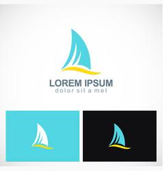 shark fin abstract logo vector image