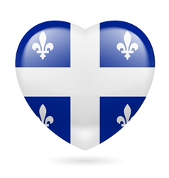 Heart icon of quebec vector