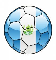 Guatemala flag on soccer ball vector