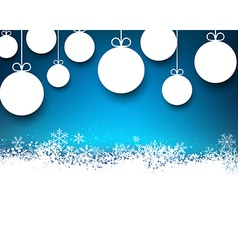 Christmas blue abstract background vector