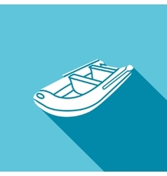 Inflatable boat icon vector