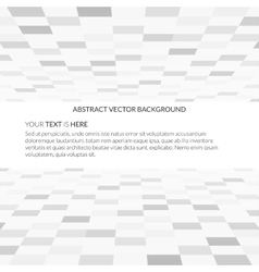 Empty white space background with perspective vector