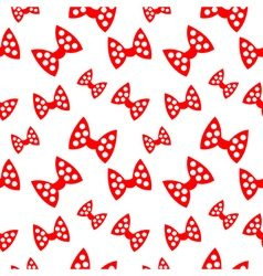 Seamless pattern with red bows vector