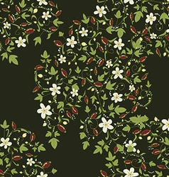 Barberry pattern seamless floral texture with vector