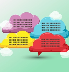 Cloud color info graphic template vector