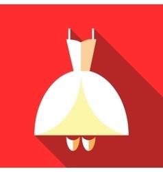 Wedding dress icon flat style vector