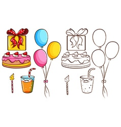 A birthday celebration vector image vector image