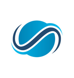 abstract circle globe swirl company logo vector image