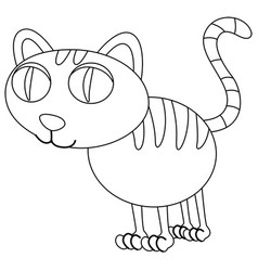 Animal outline for kitten vector