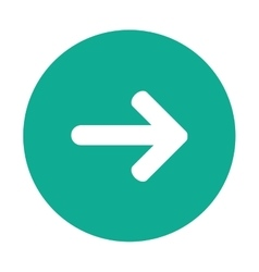 Arrow pointing right inside circle icon vector