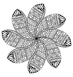 Beautiful black mandala vector