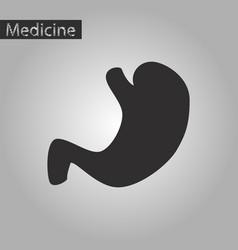 Black and white style icon of stomach vector