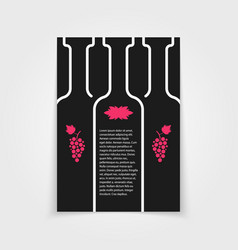 Black brochure for wine store vector