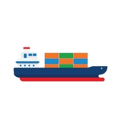 Cargo Ship with Containers vector image vector image