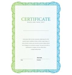 Certificate modern template diplomas currency vector