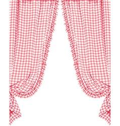 Checked curtain vector