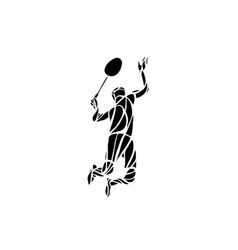 Creative silhouette of professional Badminton vector image