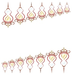 Doodle color abstract china lights vector