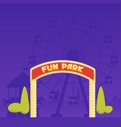 entrance to the amusement park circus carousel vector image