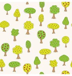 Fruit garden trees vector