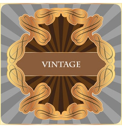 Gold vintage label vector