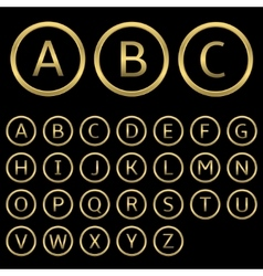 Golden letters vector