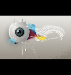 Human eye abstract vector