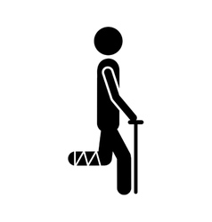 injured person icon image vector image