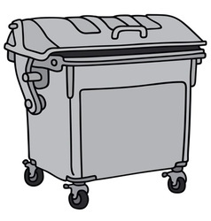 Metal garbage container vector