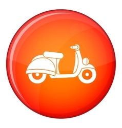 Motorbike icon flat style vector